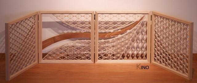 Kumiko Art Folding Screen gallery   K-INO Inomata Art ...
